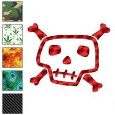 Art Skull Crossbones Bones Decal Sticker Choose Pattern + Size #2372