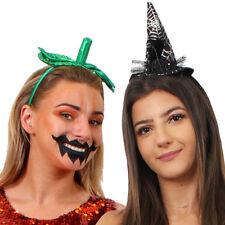 PUMPKIN AND WITCH HEADBAND HEAD PIECE HALLOWEEN FANCY DRESS HAIR BAND CHOOSE