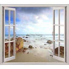 Sticker fenêtre déco Mer plage réf 5425 5425