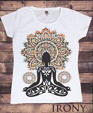 Women Aztec Yoga Top Buddha Chakra Meditation Zen Hobo Boho Peace T-shirt TSA20