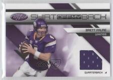2010 Certified Shirt Off My Back #22 Brett Favre Minnesota Vikings Football Card