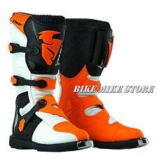 THOR BLITZ  Kinder Cross Enduro Stiefel weiß / orange  GR. 32-39 (1-7)