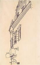 Egon Schiele-Croquis de edificios Vintage Fine Art Print