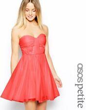 ASOS PETITE Bandeau Dress With Twisted Bodice UK SIZE 8