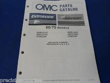 1987, 60, 75 Models OMC Evinrude Johnson Parts Catalog