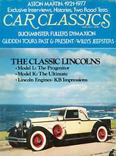 CAR CLASSICS Aston Martin 1977 Classic Lincolns