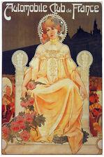French Vintage Decoration & Design Poster.Car Auto Club.Home art Decor 821i
