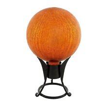 "Achla Design 10"" Gazing Globe, Mandarin, Crackle G10-M-C New"