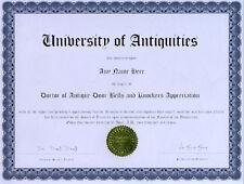 Doctor Antique Door Bells and Knockers Novelty Diploma