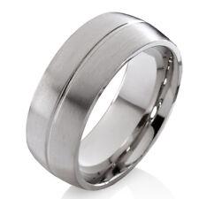 Verlobungsring Ehering Herrenring Damenring aus Edelstahl mit Ring Gravur E004