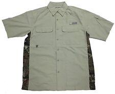 Bimini Bay Outfitters Gulf Stream w/ Camo Side Panels Short Sleeve Shirt