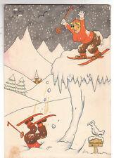 DUBOUT. Vive le ski ! Tirage couleurs 1956. Laboratoires Le Brun