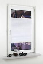 Klemmfix Plissee Rollo Vorhang Klemmträger Easyfix - Höhe 130 cm - Weiss Weiß