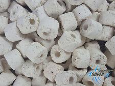 Los medios de filtro biológico, 800 anillos de cerámica m2/l Acuario Bio 15mm Pecera Estanque