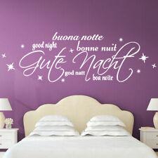 Wandtattoo Wandsticker Wandaufkleber Schlafzimmer Zitat Gute Nacht Sterne W3050