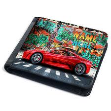 Race Car Wallet Boys Bi Fold Coin Card Holder Kids Rally Racing Personalised