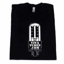 Black VIVA TUBES Epic Vacuum Tube Guitar Audio Audiophile Men's T Shirt