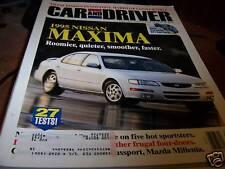 Car and Driver Magazine 6/1994 - 1995 Nissan Maxima
