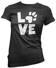 Love Paw Print - Cat Dog Pet Lover Womens T-Shirt