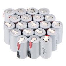 4/8/12/16/20pc Sub C SC 1.2V 1800mAh NiCd Rechargeable Batteries & Tab-White -US