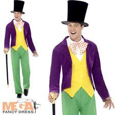 Willy Wonka Da Uomo Costume fabbrica di cioccolato Roald Dahl Libro Giorno Costume per adulti