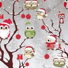 Wachstuch Tischdecke Weihnachten Eule Eulen C144340 eckig rund oval