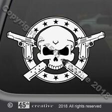 1911 Crossbones Decal - colt 45 acp semi auto pistol self defense skull sticker