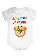 Body bébé smiley clown humour personnalisé prénom au choix réf 49