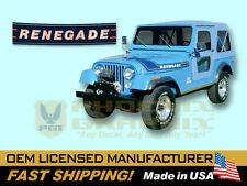 1975 1976 Jeep Renegade CJ5 CJ7 Decals & Stripes Kit