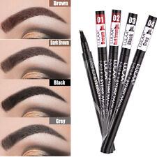 Lasting Liquid Brow Enhancer Eyebrow Tattoo Pen Dye Tint Pencil 4 Head Fork Tip