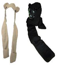 À Capuche Ours écharpe Doux Hiver Chaud Cosy Wrap Boutons gant main Trous Capuche