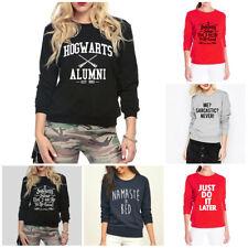 NEW Long Sleeves Autumn Winter Printed Fleece Sweatshirt Ladies Jumper for Women