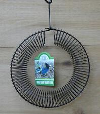 Songbird Essentials Black Whole Peanut Metal Wire Wreath Squirrel and Jay Feeder