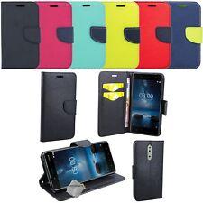 Housse etui coque pochette portefeuille pour Nokia 8 + verre trempe