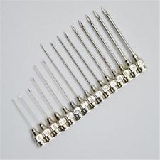 10 stücke Edelstahl Spritze Nadel Abgabe Nadeln Veterinär Nadeln 15 Größen DE
