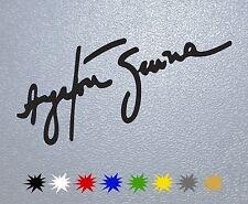 STICKER PEGATINA DECAL Ayrton Senna Signature