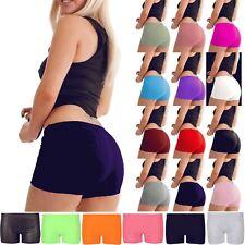 New Ladies Women Slim Fit Stretch Hot Pants Sports Gym Mini Dance Party Shorts