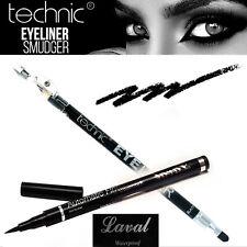 Technic lápiz ojos negro sacapuntas + difuminador ó eyeliner líquido waterproff