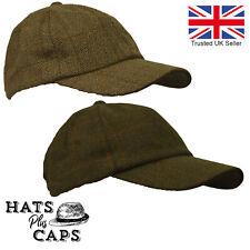 British Derby Tweed Baseball Cap Teflon Water Repellent Shooting Fishing Hat