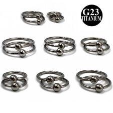 Titanium Captive Bead Ring CBR Lip Nose Ear Cartilage Septum Piercing Jewelry