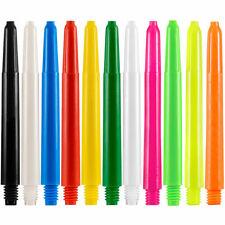 Nylon Dart Stems Shafts Plastic Designa 11 Plain Colours, 4 Lengths, 1-10 Sets