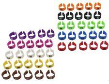Kit 100x anelli colorati numerati identificazione galline polli galli tacchini