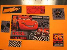 Disney Pixar Cars Movie Fabric Iron Ons -style #3 Lightning McQueen appliques