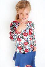 Mim-Pi Langarm-Shirt/Longsleeve Roses rot-weiss blau NEU 116 122 128 134 140 146