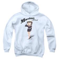 Betty Boop Marine Betty Boop Pullover Hoodies for Men or Kids