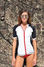 New Ladies Rashie Rash Vest Top Surf Swim Wet Shirt XS S M L XL XXL UPF50 womens