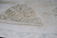 Antiqued Parchment Scroll - Beige w/ Manuscript Writing Wallpaper Border W1138