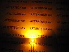 5mm 100pz LED GIALLO ULTRALUMINOSI FLAT HEAD 8000mcd
