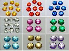 "50 Flatback Acrylic Rhinestone Round Gem Beads 20mm(3/4"") No Hole Color Choice"