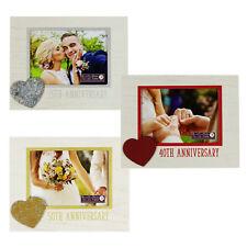 madera 12.7cm x 17.8cm Marco de fotos con Corazón ICONO - Aniversario Bodas